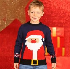 BOYS RUDOLPH SANTA KNITTED JUMPER